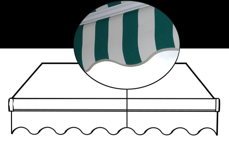 Imagen de ribete de la lona de un toldo